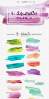 31 Watercolor Textures - Strokes by photosoma