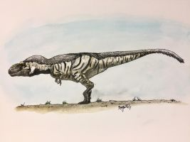 Bistahieversor Sketch (colorized) by DinoHunter000
