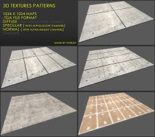 Free 3D textures pack 29 by Yughues