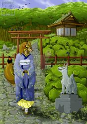 Commission - Good Morning Kitsune by cooley
