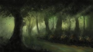 Green forest by Madink2000