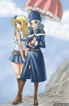 Fairy Tail Lucy and Juvia by Ornav