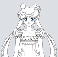 COMMISSION - Princess Serenity (New Style) by JackoWcastillo