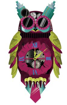Steampunk  Owl Clock by BiLyBao