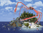 Attacking Spider Crab Island by Vorgus