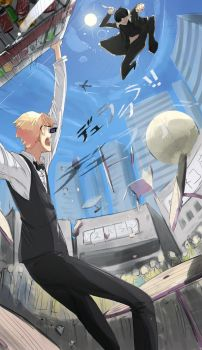 Shizuo Fight by faustsketcher