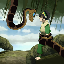 Toph and Kaa by brakdanych99253