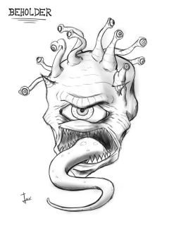 Beholder Sketch by SRProductions