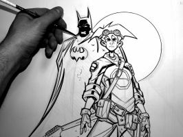 Batman and Ryan Inks by OilCanDrive