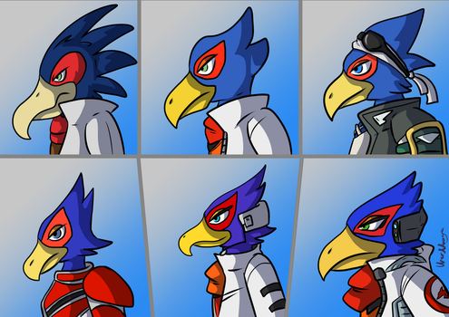 The Many Designs of Falco Lombardi by UberNooga