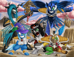 Super Happy Mega Special Squad Ponyu Force GO by BerryPAWNCH