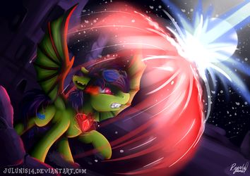 YCH Commission - The Alicorn Amulet's POWER by Julunis14