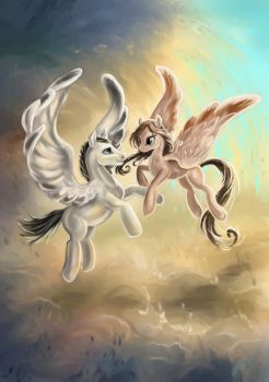 The winged couple by Egretink