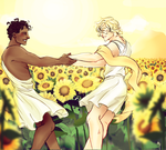 Day 3: Yellow (Achilles and Patroclus) by phy-be