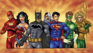 Justice League Colors by seanforney