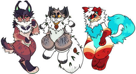 SKETCH FURRY ADOPTS (30$ FLATSALES) by Honey-Beest