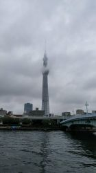 Tokyo skytree with clouds by xuae