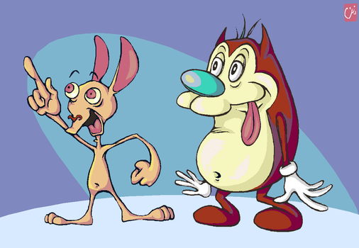 Ren and Stimpy by creepydana