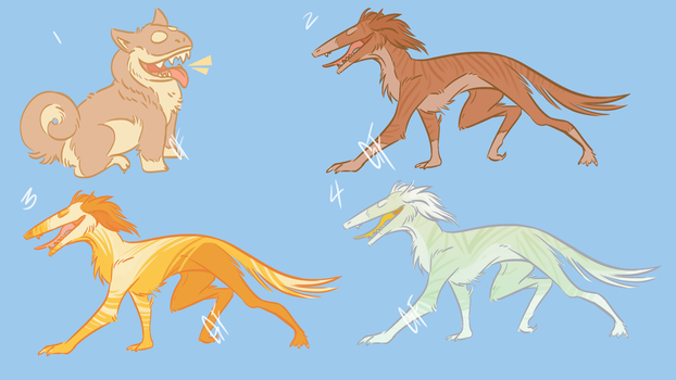 Chomp Dogs Saluki and Shiba Inu Pack #1 by GHOST-FEVER