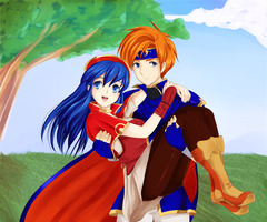 FE SS: Roy and Lilina by chunkybutt