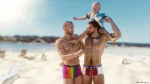 Beach Dads - Blender by mal3Imagery