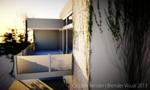 Octane Render Stone House Design 20 by str9led