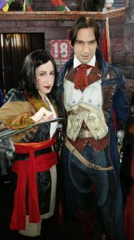 Mary Read and Arno at Paris Games Week 2014 by PyodeKantra