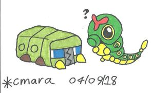 Caterpie meets Charjabug