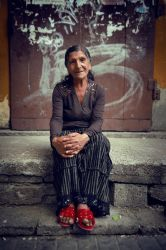 Gypsy old women by Alcove