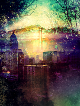 Abstract Cityscape by jacqui-kate
