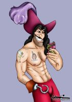 Selfie Captain Hook from Peter Pan by HungryDesigns