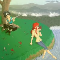 Kurama + Hiei's Beautiful Day by Candid-Ishida
