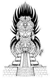 Aztec 1/2 Sleeve Concept by forkboy