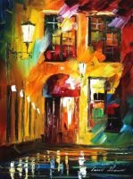 Where only cats don't sleep by Leonid Afremov by Leonidafremov