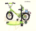 Bicycle and scooter by VishKeks