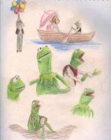 Coloured Muppet Doodles by WaterLily-Gems