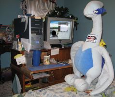 GIANT LUGIA at computer by Eternalskyy