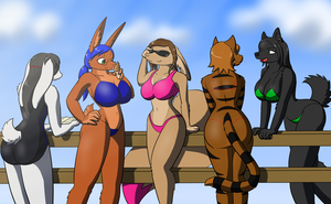 Beach Babes by SonOfNothing