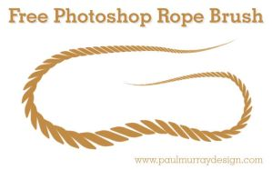 FREE Photoshop Rope Brush by bigoldtoe