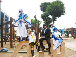The Vocaloid guys :3 by cosplayluvx3