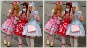 Sweet Lolita Girls - 3D xeye by gen2oo9