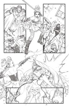 A-Force #2 Pencils by ZurdoM