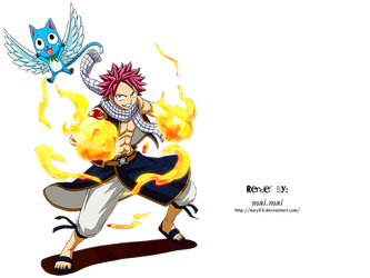 Natsu Dragneel PNG by mey03