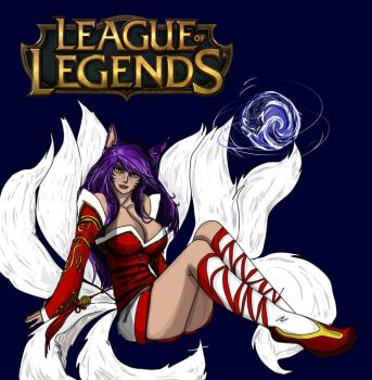 Ahri League of Legends by 86Nemesi