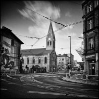 Cityscape with a church by RafalBigda