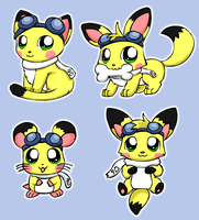 Sparks' Animal Forms by pichu90