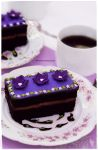 Chocolate Fudge Cake with Lavender Infused Icing by theresahelmer
