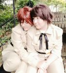 A Shoulder To Lean On - Spamano by Miss-Meow-Meowth