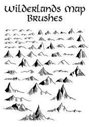 Wilderlands Map Brushes by Orboroth