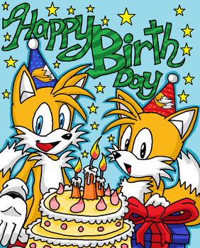 Tails Happy Birthday by emichaca